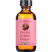 Flavorganics Extract - Organic - Almond - 2 oz - case of 12