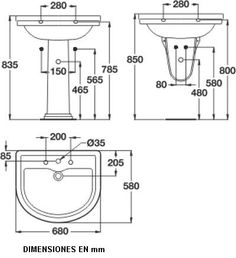 Lavamanos dimensiones Washroom Design, Toilet Design, Bathroom Floor Plans, Bathroom Plumbing, Bathroom Layout, Bathroom Interior, Toilet Plan, Plumbing Drawing, Room Hire