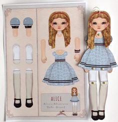 alice in wonderland paper dolls - Google Search
