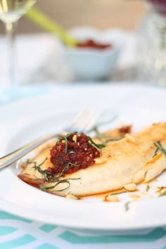 Easy Tilapia with Sun-Dried Tomato Pesto.. Healthy and Quick!