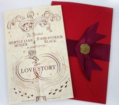 marriage managed... we solemnly swear 'til death eaters do us part! harry potter invitations #wedding #stationery