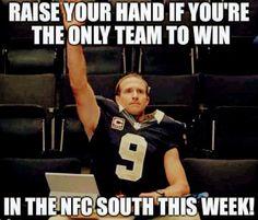 Nfl Saints, Saints Memes, All Saints Day, Vikings Football, Best Football Team, Football Girls, New Orleans Saints Logo, New Orleans Saints Football, Funny Football Memes