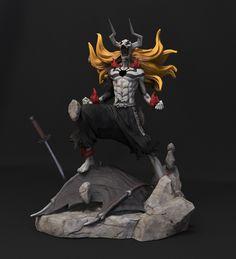 Private commission of a Kurosaki Ichigo Hollow scale figure with a high level of detail. 3d Figures, Action Figures, Bleach Figures, Manga Anime, Anime Bleach, Black Comics, Anime Figurines, Vinyl Art, Vinyl Toys