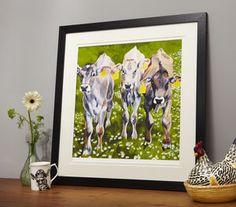 Daisy Chain Cow Print