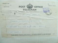 Telegram following performance of Ancell and His Forty Painted Pigeons