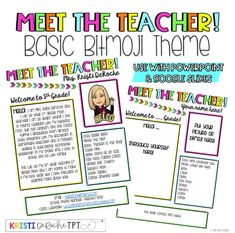 Meet The Teacher Newsletter Template Classroom Newsletter, Special Education Classroom, Teacher Newsletter, Primary Education, Teacher Introduction Letter, Letter To Teacher, Classroom Procedures, Classroom Organization, Classroom Ideas