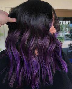 Deep Purple Hair Color 151591 Hair Color 2017 2018 Dark Purple Hair and Everythi. Dark Purple Hair Color, Dyed Hair Purple, Cool Hair Color, Pastel Hair, Purple Hair Tips, Dark Violet Hair, Hair Colour, Purple Ombre, Purple Balayage