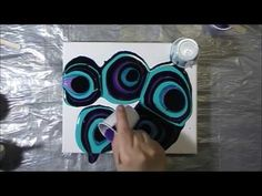 Purple & Turquoise Acrylic Pour #7 - YouTube