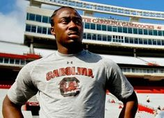 Marcus Lattimore. An outstanding young man. Thoughts and prayers are with him and his family. Here's to a speedy recovery.