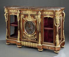 ~ An Important Antique Buffet-Cabinet By Maison Guéret c.1873 France ~ onlinegalleries.com
