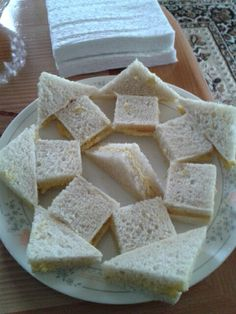 Little girls tea party sandwiches