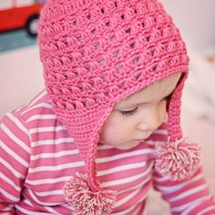 Instant download - Hat Crochet PATTERN (pdf file) - Miracle Earflap Hat (baby, toddler, child sizes)