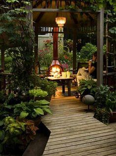 Very cozy garden room