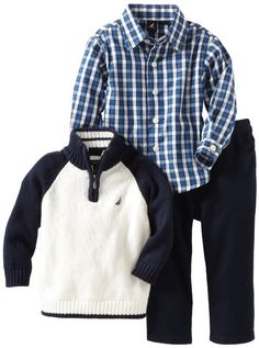 Amazon.com: Nautica Sportswear Kids Baby-Boys Infant 3 Piece 1/4 Zip Raglan Sweater Set: Clothing