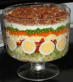 7 layer salad.....one of the best make ahead salads EVER