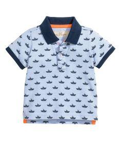 Polo Shirt | Light blue/patterned | Kids | H&M US