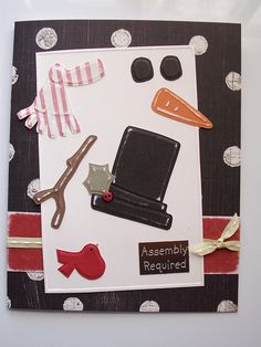 Dry embossed assembly required snowman card