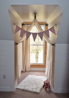 DIY reading nook in our latest nursery reveal!