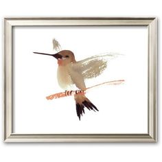 Art.com ''Hummingbird'' Framed Art Print by Aurore De La Morinerie... ($200) ❤ liked on Polyvore featuring home, home decor, wall art, coventry champagne, handmade home decor, wood home decor, framed wall art, wooden wall art and wood wall art