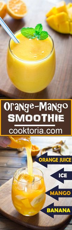 Quick, healthy and dairy-free, this Orange Mango smoothie will become your favorite in no time! ❤ COOKTORIA.COM