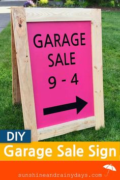 Are you ready to hold a Garage Sale but need to learn how to make a garage sale sign? A-Board signs are quick and easy to build! Yard Sale Signs, Garage Sale Signs, For Sale Sign, Sell Your Stuff, Things To Sell, Sandwich Board Signs, Garage Sale Pricing, Rummage Sale, Diy House Projects