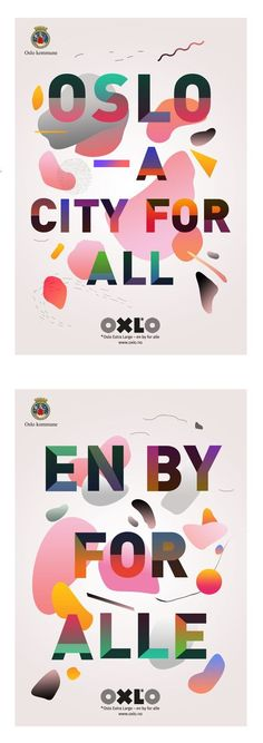Campaign ads for #Oslo municipality.