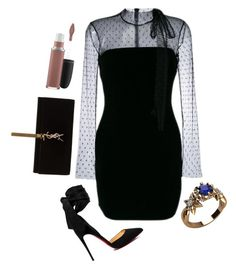 """#658"" by anna-siegl on Polyvore featuring RED Valentino, Christian Louboutin, Yves Saint Laurent and MAC Cosmetics"