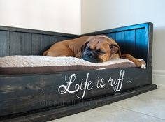 Pawsome Dog Bed Recovery Wood Handcrafted door GreenbeltRecovery