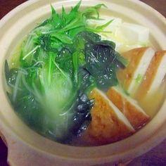 さつま揚げと豆腐の一人鍋