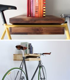 Indoor bike storage and decor at the same time.