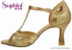 gold salsa shoes   Gold Ladies Salsa Dancing Shoes - Buy Popular Salsa Dance Shoes ...