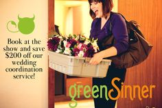 $200 off wedding coordination services for bookings at the show from @greensinner! Visit us at @brideshowpgh - January 16th and 17th - www.brideshow.com