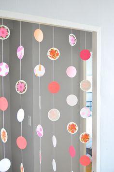 DIY Paper Coaster Garland   Julep