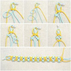 start knitting lark's head knot bracelet