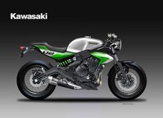 "Kawasaki ER-6n Cafe Racer Design ""FROGGIE"" by Motosketches 