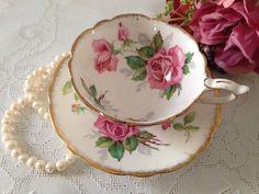 Berkeley Rose Royal Stafford China Tea cup and Saucer Teacup Set