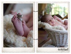 newborn baby boy and his parent's rings