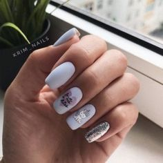 30 Eye-Catching Silver Nails Looking for silver nail ideas? From Metallic to stripes to glitter nails, discover your favorite silver nail art with our list of the top 30 silver nail designs Cute Nail Art, Cute Nails, Pretty Nails, Silver Nail Designs, Nail Art Designs, Nails Design, Silver Nails, Pink Nails, Glitter Nails
