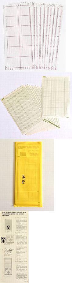 Chunky Knitting machine 12 stitch blank punch card set of 5