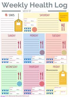 Weekly Health Log - Free Printable
