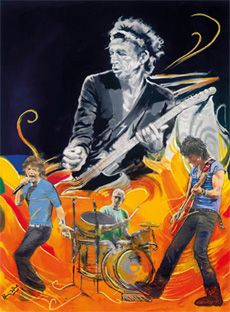 The Famous Flames - Wah Wah - Boxed Canvas Edition - 2011 - La Collection Ronnie Wood - Art - Castle Galleries The Rolling Stones, Rock Posters, Concert Posters, Ronnie Wood Art, Ron Woods, Decoupage, Greatest Rock Bands, Stone Art, Artist Art