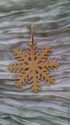 Купить снежинка №6 - бежевый, елочные игрушки, елочные украшения, елочная игрушка, елочное украшение