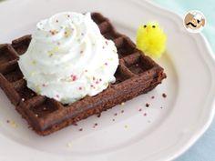 Receita Sobremesa : Waffle brownie de PetitChef_PT