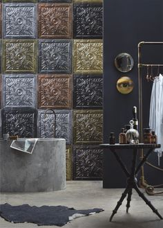 Wall mural by KOZIEL. The new Tin Tiles Collection !