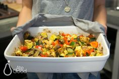 Chicken breast baked with vegetables