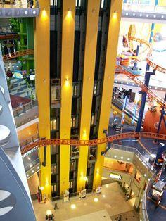 Shopping malls Kuala Lumpur, Berjaya Time Square indoor roller-coaster at Jalan Imbi