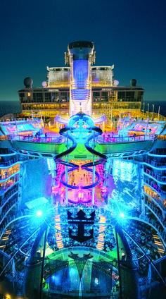 Harmony of the Seas   Every night comes alive aboard the world's largest cruise ship.