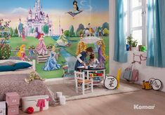 Home wall murals - online store with wide range of wall mural wallpapers starting from New York design and ending on Disney kids wallpaper photo murals. Princess Mural, Disney Princess Bedding, Disney Princess Castle, Princess Nursery, Girl Nursery, Girls Bedroom, Nursery Decor, Disney Nursery, Bedroom Sets