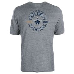 Dallas Cowboys On The Fifty Super Bowl VI Champs Tri-Blend T-Shirt - Gray - $31.99