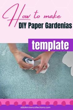Make these beautiful paper gardenias at home with this template and tutorial. Hand cut or use with a cutting machine. Giant Flowers, Fabric Flowers, Paper Flowers, Flower Svg, Flower Template, Gardenias, Small Bouquet, Paper Flower Tutorial, Ideas Para Fiestas